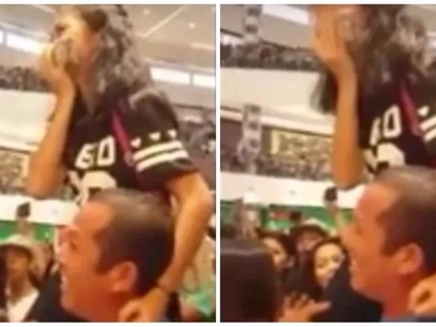 A touching moment of an avid fan carried by her Father to see Kathryn Bernado in a mall show breaks social media!