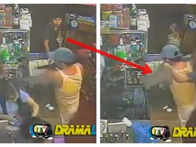 Brave Pinoy customer in Caloocan grocery store saves cashier and fights deadly hold-upper