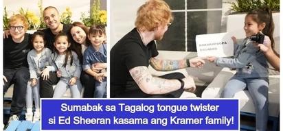 Tinuruan mag-Tagalog! Ed Sheeran takes on Tagalog tongue twister challenge with Team Kramer