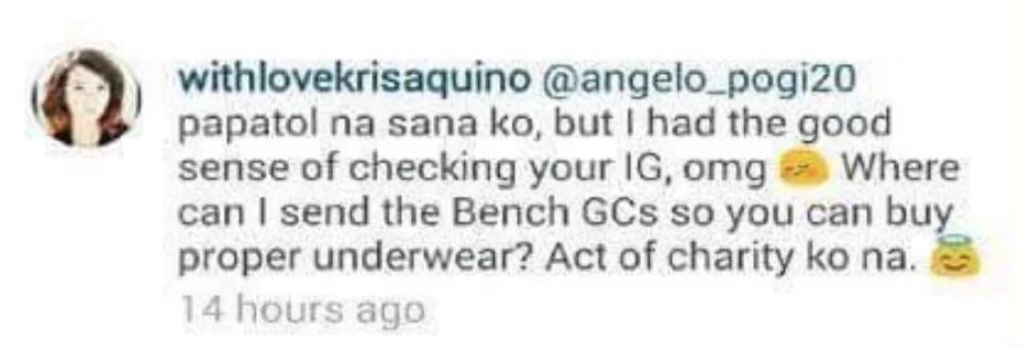 Kris Aquino replies to a basher who called his son 'bakla'