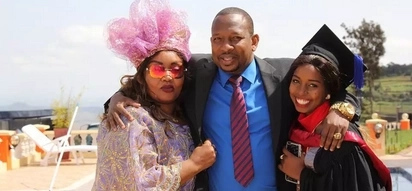 Mike Sonko's daughter Saumu Mbuvi hospitalised
