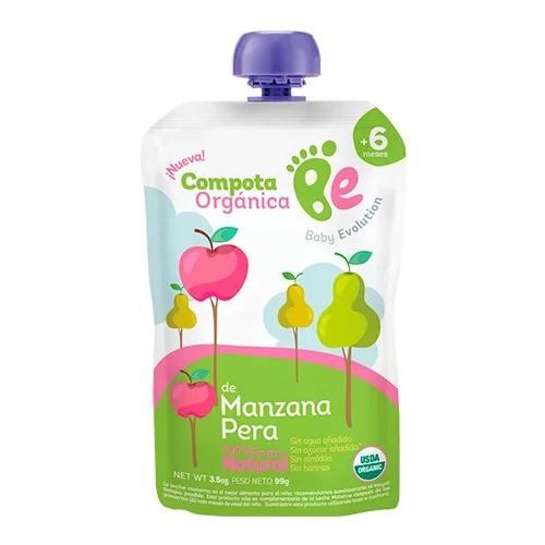 Compotas orgánicas, salud para los bebés