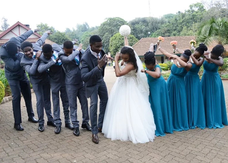 Citizen TV reporter walks down the aisle at a colorful ceremony