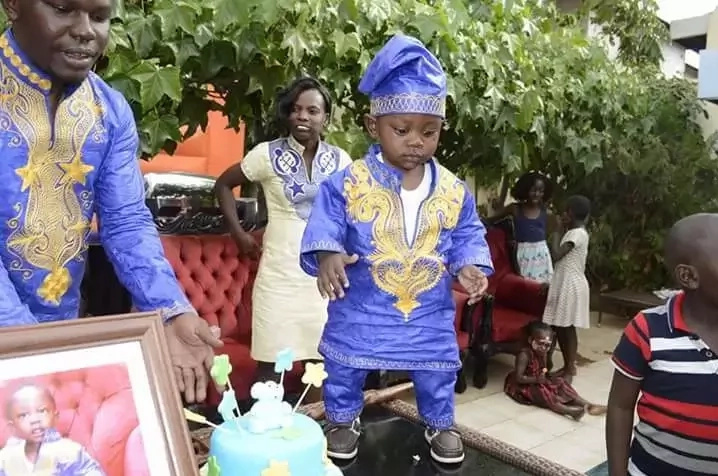 Man who organised a KSh 1 million birthday for son hits the Internet again