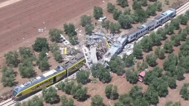 Two trains collide in Italy; 23 people dead