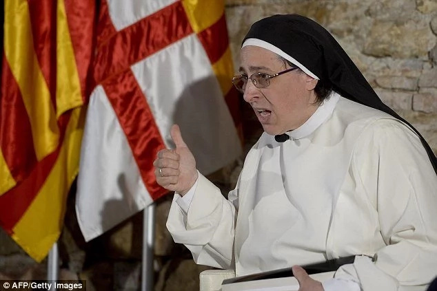 Nun under fire after claiming Virgin Mary wasn't VIRGIN and actually had INTERCOURSE with Joseph (photos)