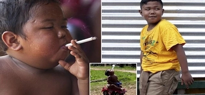 Boy, 9, who smoked 40 CIGARETTES a day aged 2 has kicked the habit to focus on school (photos, video)
