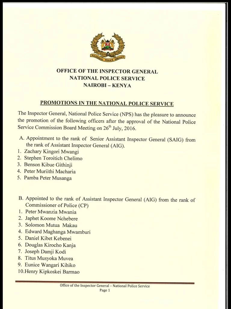 Charles Owino omitted from new police promotion list