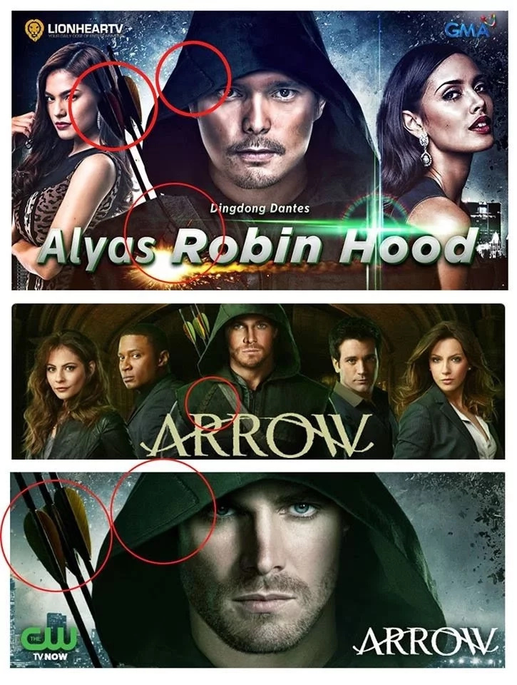 "The similarities between the two posters didn't go unnoticed by the fans of ""Arrow."" (Photo credit: YouTube)"