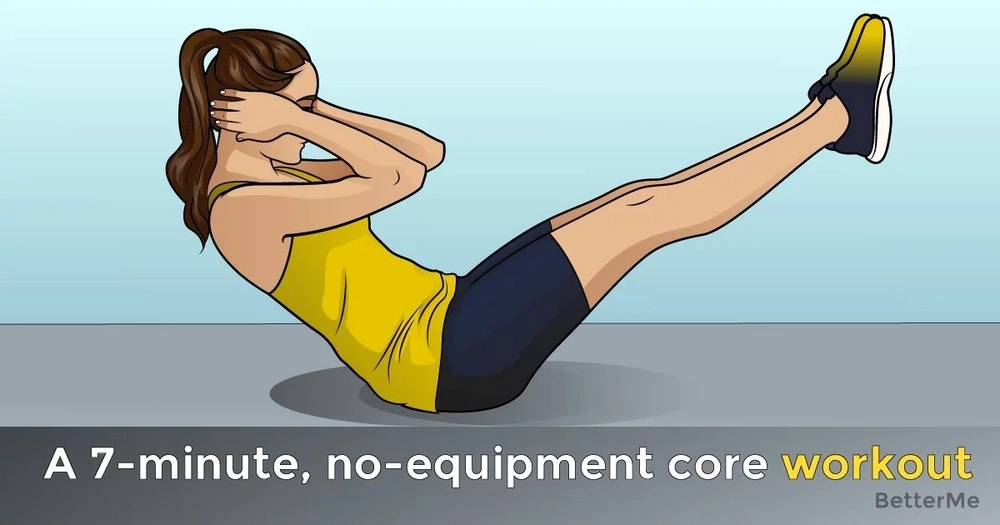 A 7-minute, no-equipment core workout