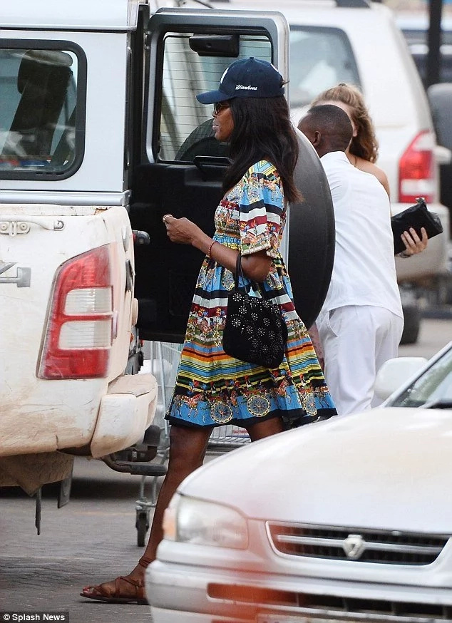 See how supermodel Naomi Campbell spends Easter holidays in Kenya