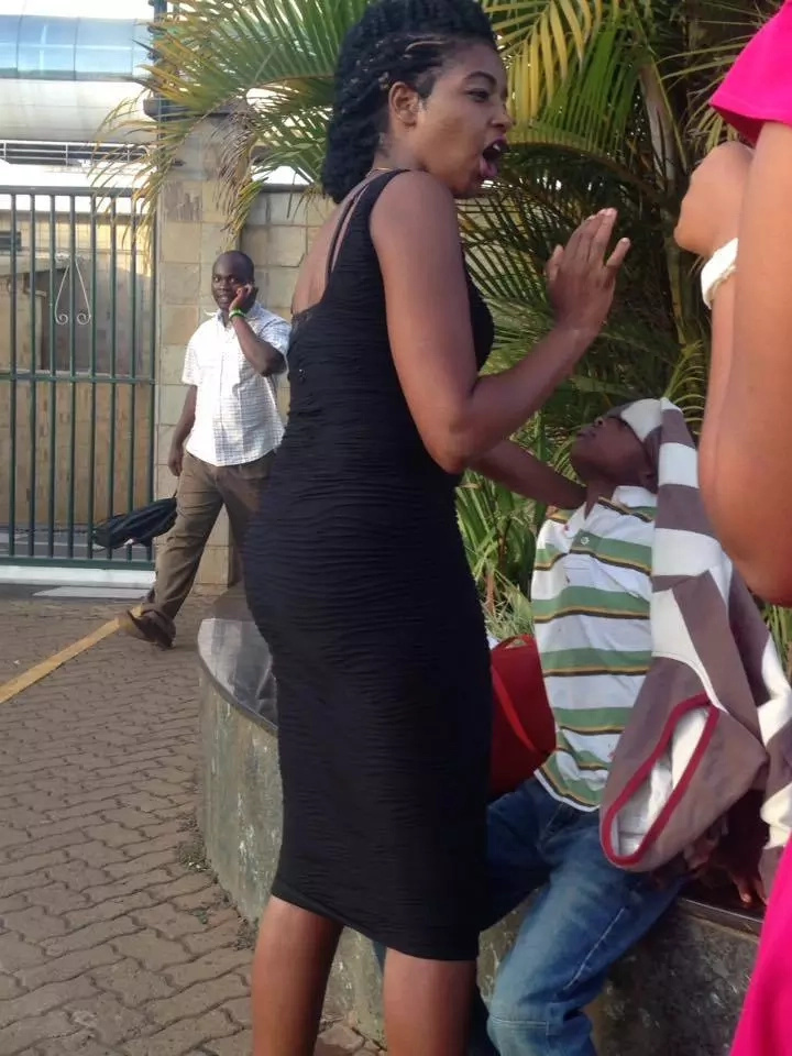 Woman saves child outside safaricom