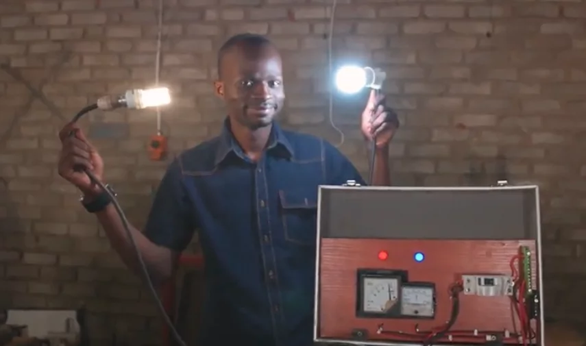 Kagiso's latest invention - a portable power station. Photo: News24/Beautiful News
