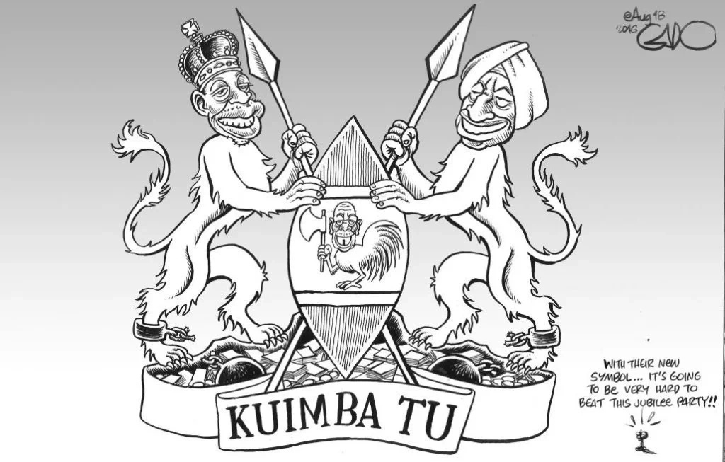 Gado's cartoon allegedly banned for mocking the president and his deputy