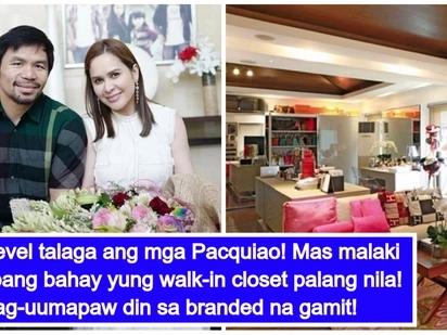 Ito ang totoong mayaman! Manny at Jinkee Pacquiao, pinasilip ang kanilang napaka-bonggang walk-in closets