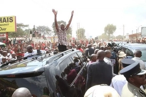 Uhuru prays for rain in Nyeri, what happens next has shocked everyone