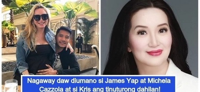 Nagaway dahil kay Kris? James Yap and Michela Cazzola allegedly had a quarrel because of Kris Aquino