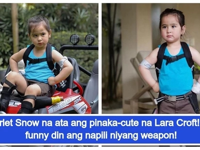 Nakakagigil sa ka-cutean! Scarlet Snow Belo channels her inner Lara Croft and her super funny weapon