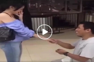 Pinoy pranks girlfriend in 'wedding proposal gone wrong' viral video
