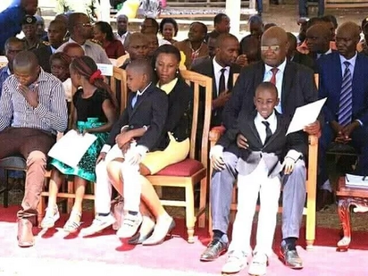 Embarrassing moment for Bungoma Governor after he's captured in awkward sitting position with his wife in public