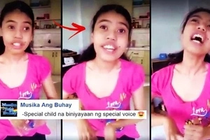 WATCH: This Pinay teen with special needs made netizens cry with her spectacular singing voice! Check out her powerful performance!