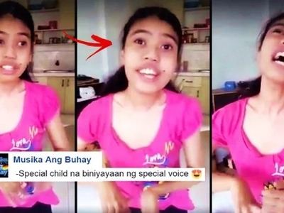 Special child with a special voice: This Pinay with special needs made netizens cry with her spectacular singing voice! Watch her performance here!
