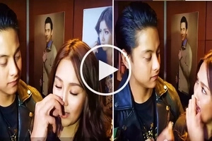 Netizens go crazy over video of Daniel Padilla seemingly picking nose of Kathryn Bernardo during interview