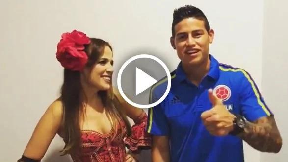 James Rodríguez invitó a gozarse el Carnaval de Barranquilla