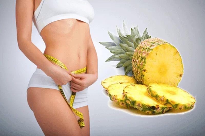 Ella bajó 5 kilos en 3 días, solo comiendo piña de esta forma ¡No podrás resistirte!