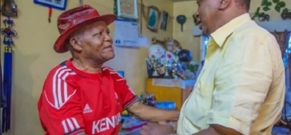 Aliyekuwa mlinda lango wa kimataifa AMLILIA Rais Uhuru (picha)