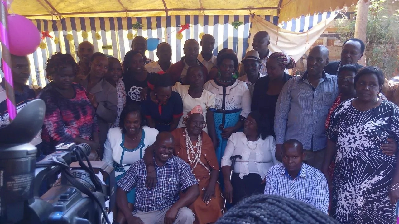 Murang'a village STUNNED as grandchildren fly in to celebrate 105-year-old granny's birthday (photos)