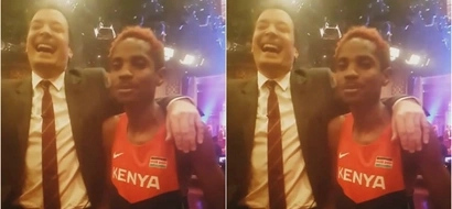 Comedian Eric Omondi achieves his WILDEST dream in America infront of MILLIONS (photos)