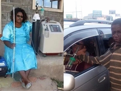 The money Kenyans raised for the woman who walked with an oxygen tank was being used for campaigns, details