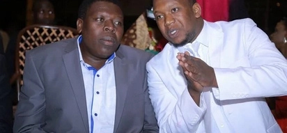 Checkout photos of Eugene Wamalwa and Grandpa Records boss parting in Carnival grounds