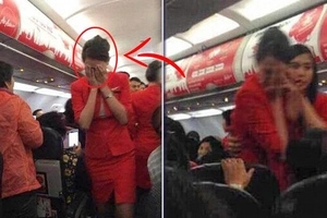 This flight attendant is crying in pain after having a conflict with an aggressive passenger! Soon, the plane called for an emergency landing ...