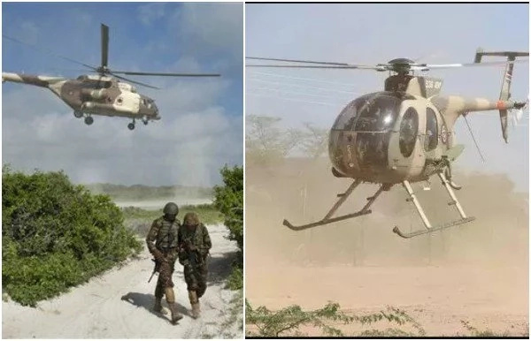 KDF combat helicopter lauches SURPRISE attack on al-Shabaab base, severa