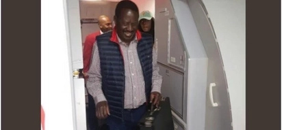 Raila, son, daughter step out wearing matching jackets