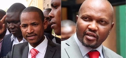 """I dare you Moses Kuria if you are man enough!"" Babu Owino reacts to Raila house arrest threats"