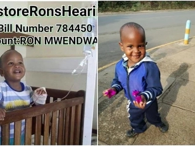Kenyans of goodwill,please help save baby Ron(photos)