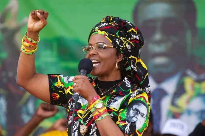 Grace Mugabe has reportedly been granted diplomatic immunity. Photo: AP
