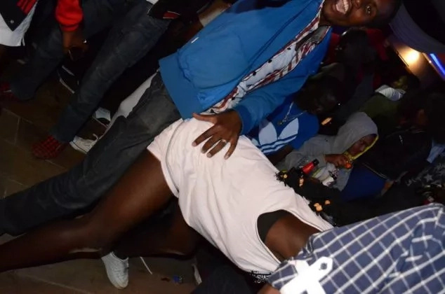 Rowdy, spoilt Nairobi girls shamelessly having dry sex at a Nairobi club