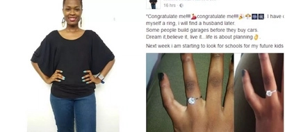 """""""Congratulate me!"""" Woman buys ring and gets engaged to HERSELF (photos)"""