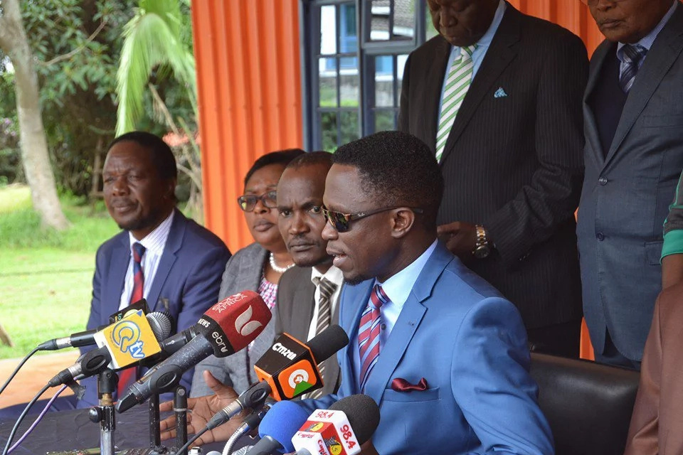 Raila tells Ababu Namwamba to respect the party or leave