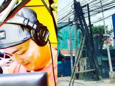 Radio DJ exposes this poorly constructed post that might be dangerous for commuters