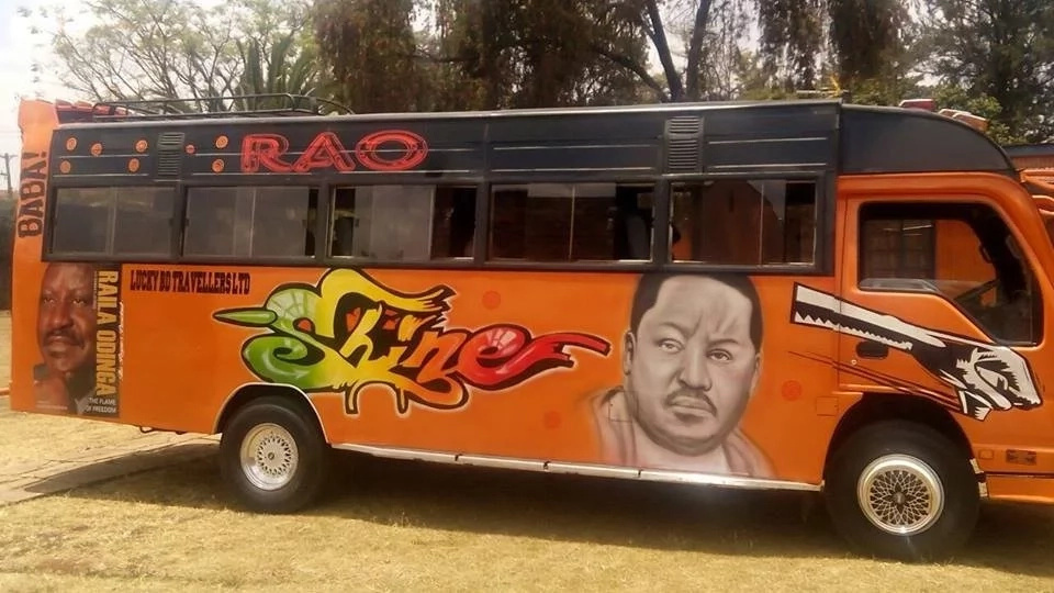 State of the art Raila Odinga matatu unveiled