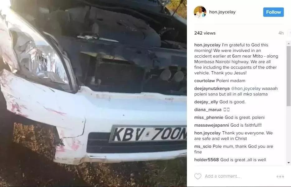 Mwanasiasa wa kike wa Jubilee aponea AJALI MBAYA barabarani