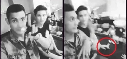 Huli ka! James Reid caught holding a cigarette in pic