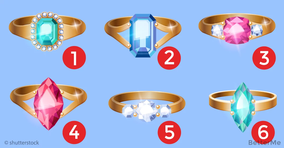 Choose the ring you like and we will tell a lot about your personality