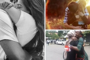 Photos of the Kenyan girl who hugged 877 STRANGERS in Nairobi on Valentine's day and the reason behind it