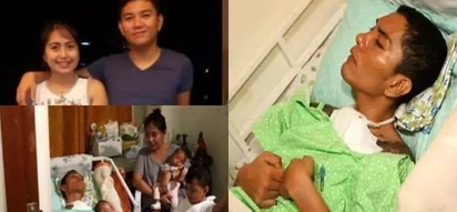 Strong Pinay refuses to give up on comatose husband after giving birth to their twins
